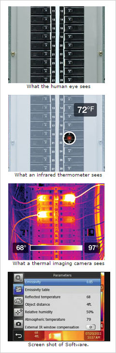 what a thermal imaging camera sees